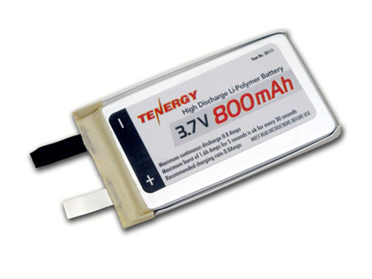 Tenergy Li-Polymer 3.7V 800mAh (383562) Battery