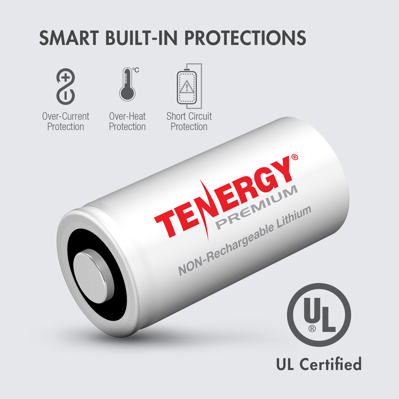 24-pack Tenergy Premium CR123A 3V Lithium Battery PTC protected