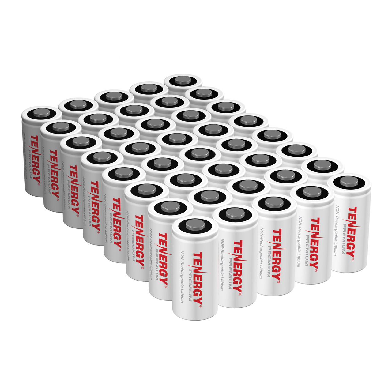 40-pack Tenergy Premium CR123A 3V Lithium Battery PTC protected