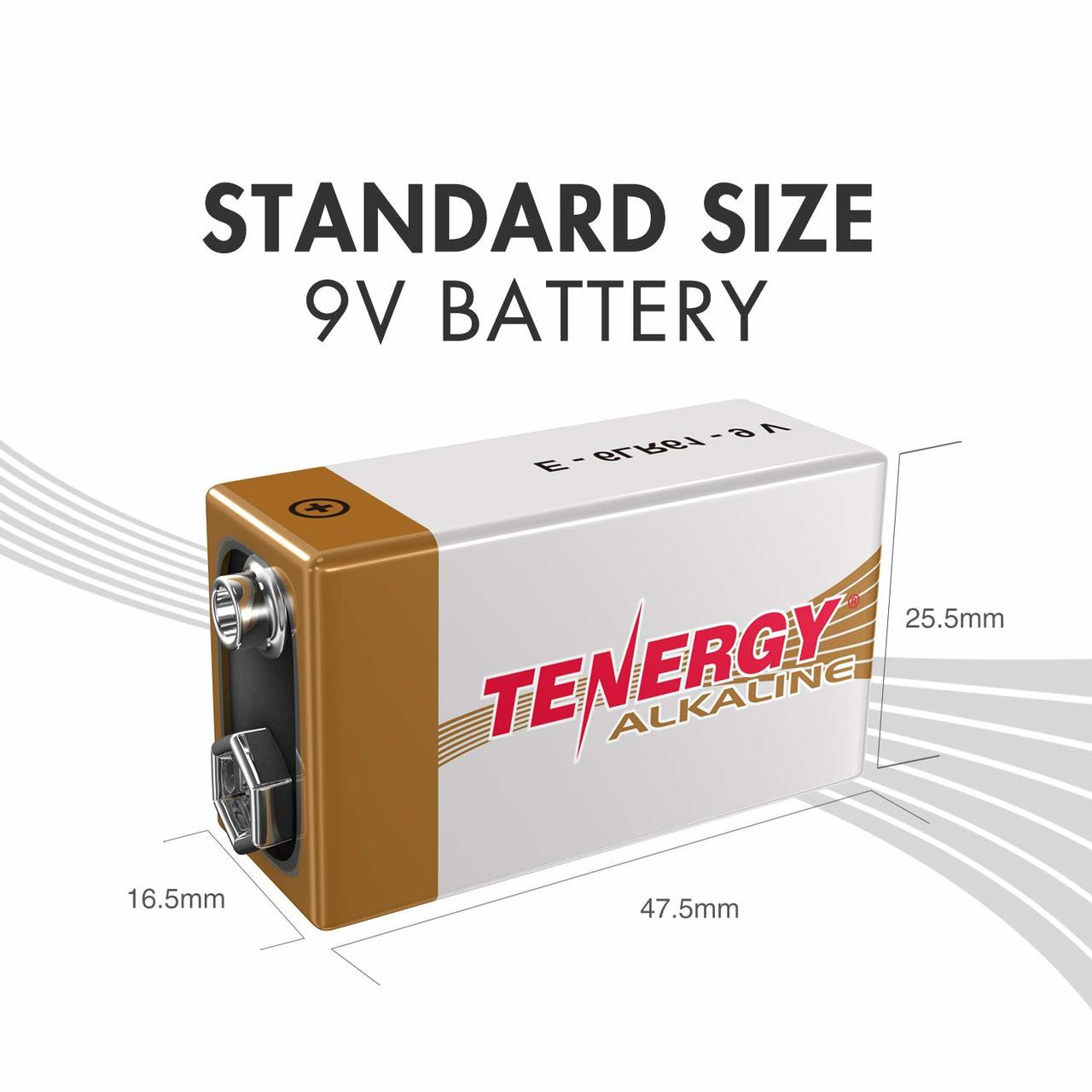 Box: 240pcs Tenergy 9V Size (6LR61) Alkaline Batteries