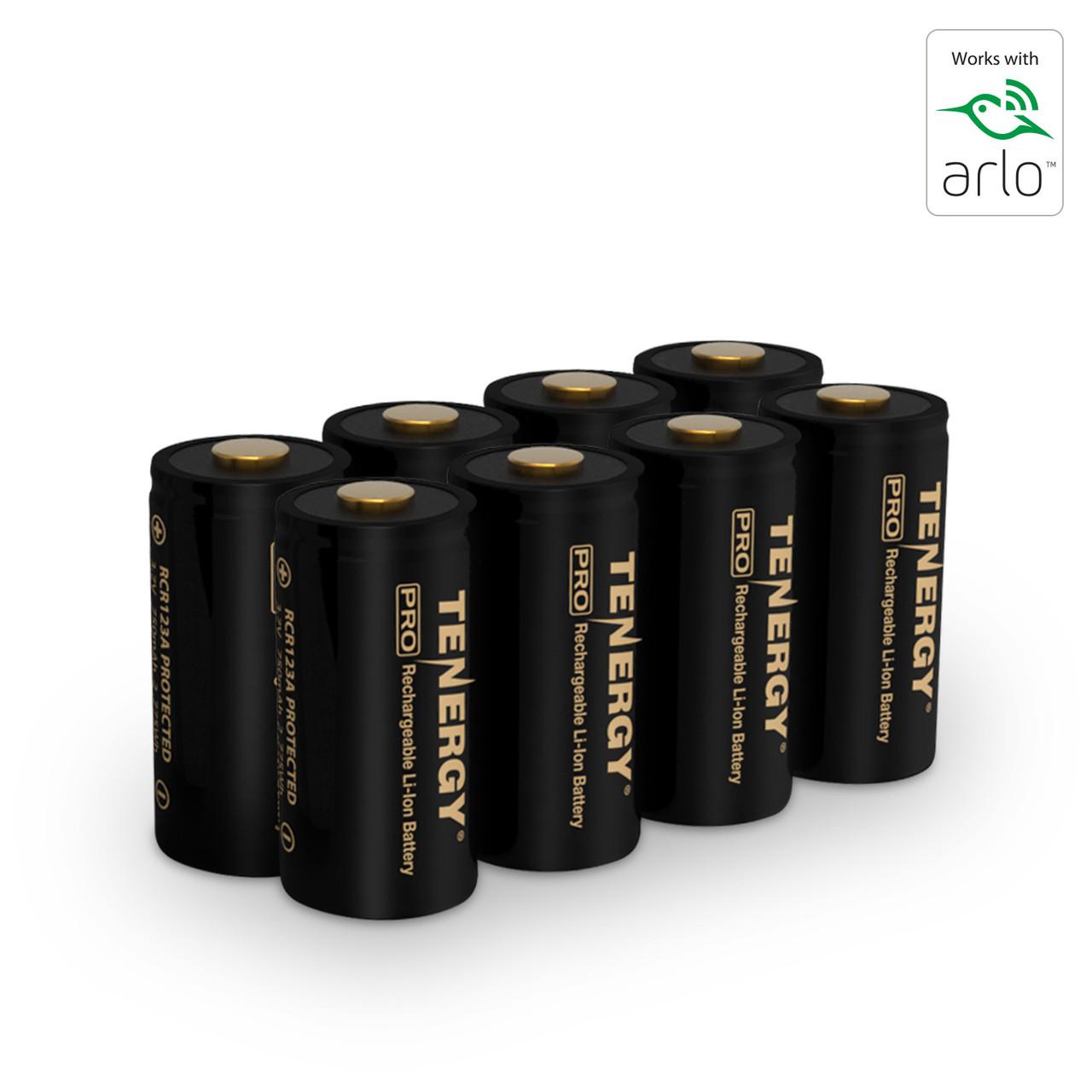 Premium High Capacity Rechargeable Batteries (8-Pack) Arlo Certified Li-ion 3.7V 750mAh