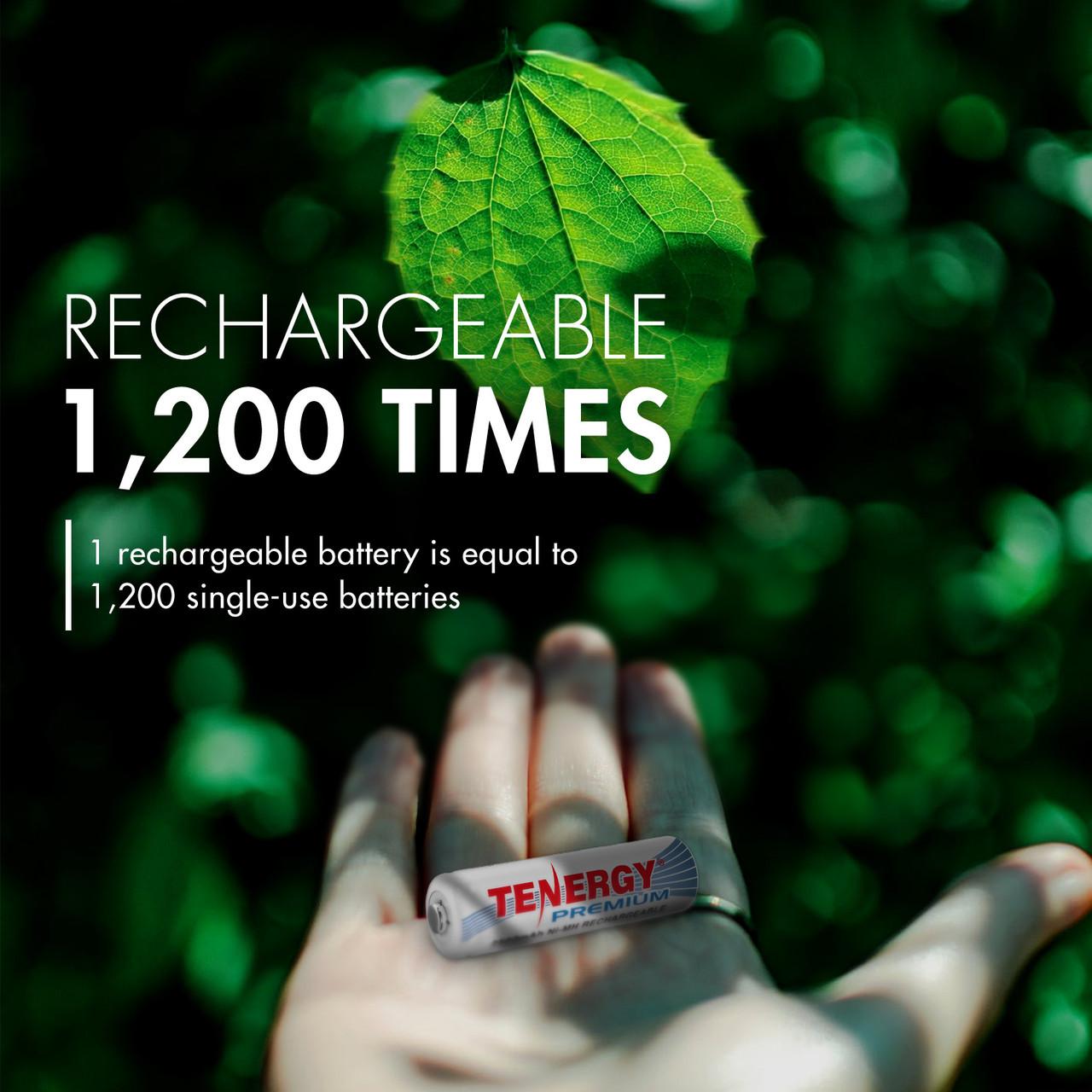 Combo: 120 pcs Tenergy Premium AA 2500mAh NiMH Rechargeable Batteries