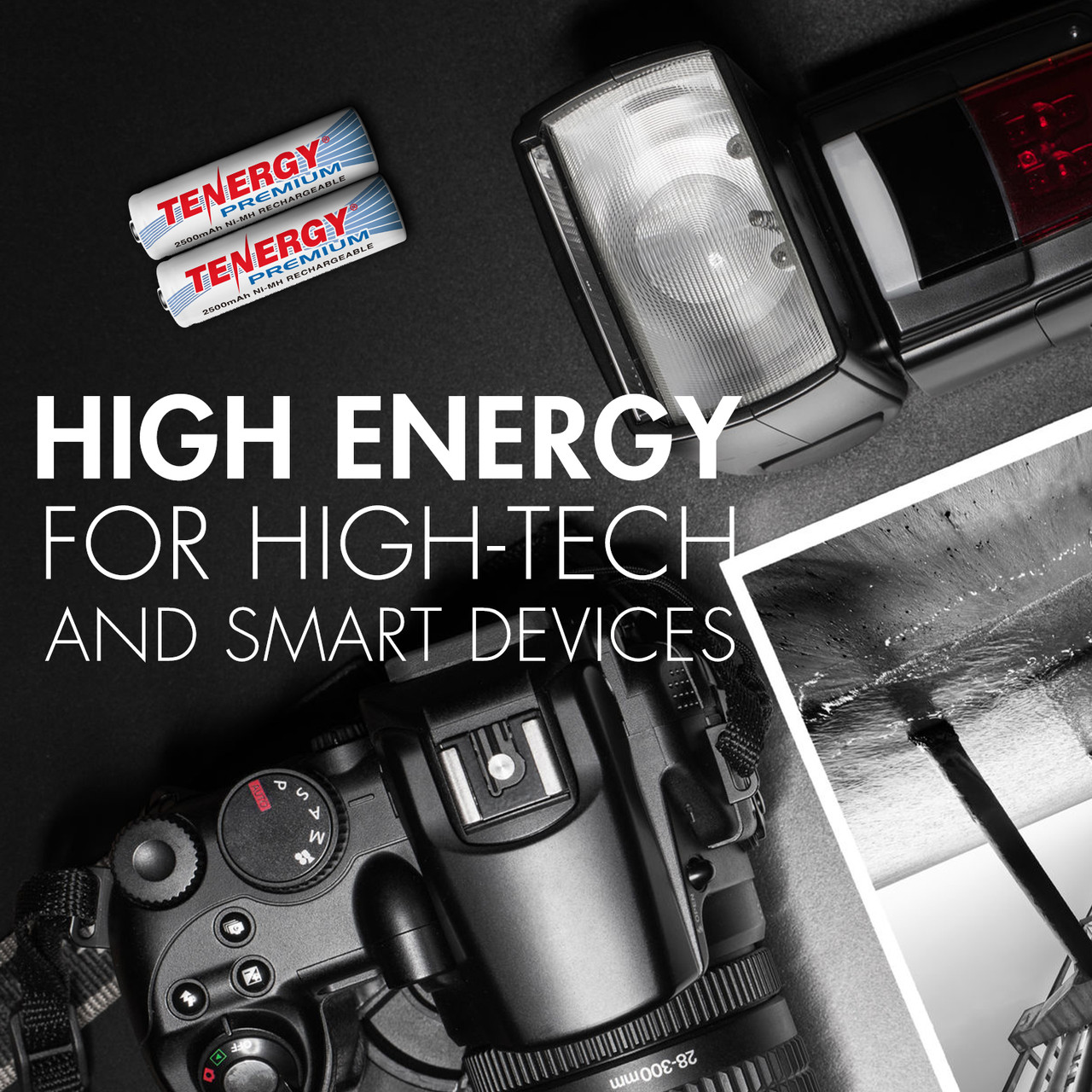 Combo: 24pcs Tenergy Premium NiMH Rechargeable Batteries, (12 AA/8 AAA/4 9V)