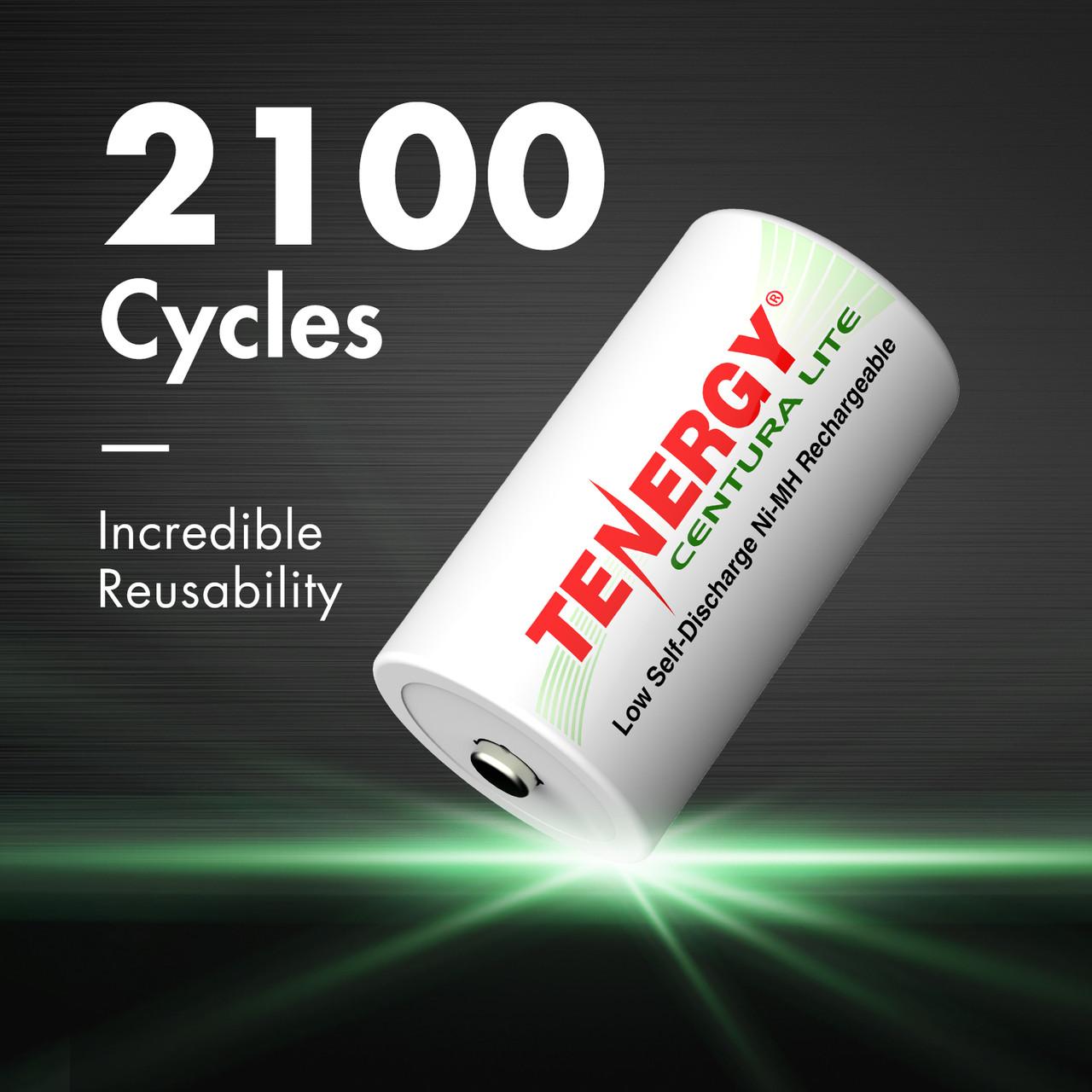 Tenergy Centura Lite NiMH D 1.2V 3000mAh Rechargeable Battery