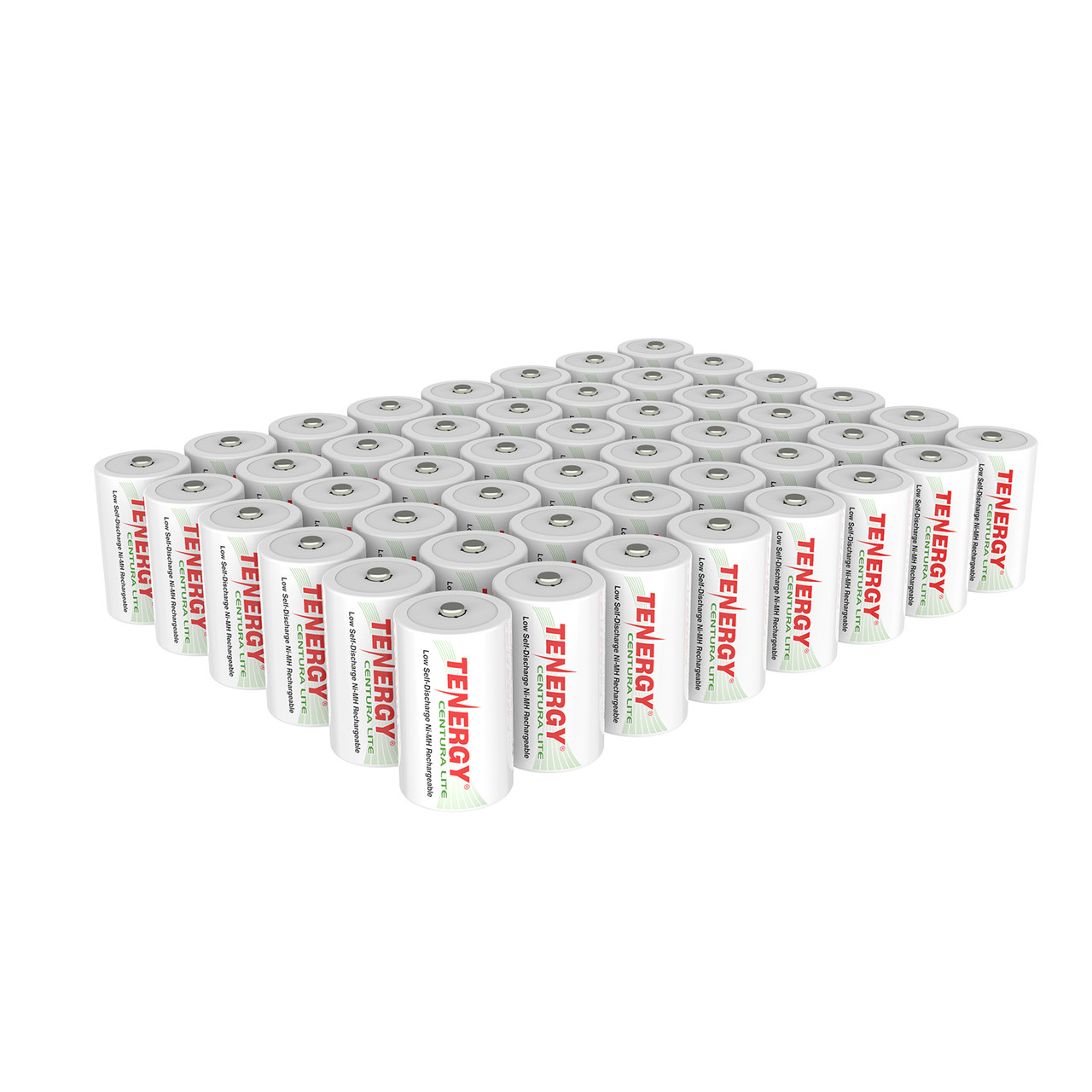 48pcs Tenergy Centura Lite NiMH D 1.2V 3000mAh Rechargeable Batteries