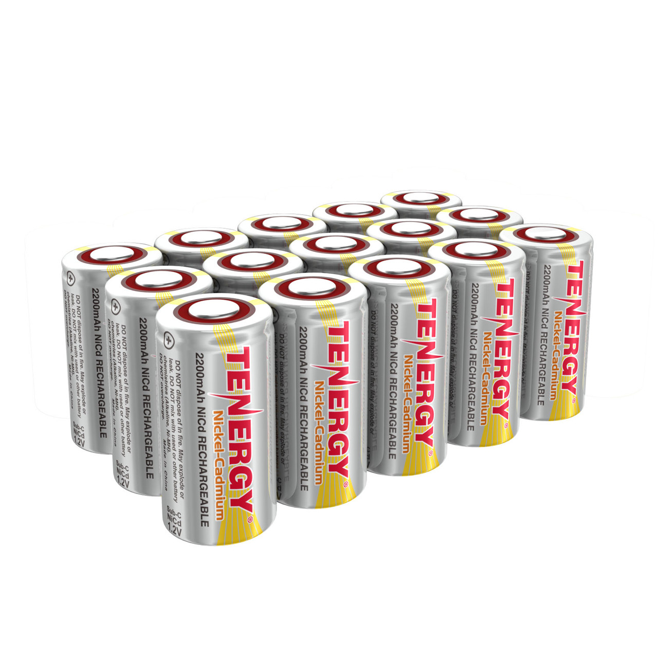 COMBO: 15 pcs of NiCd Sub C 2200mAh Batteries for Power Tools Flat Top No Tabs