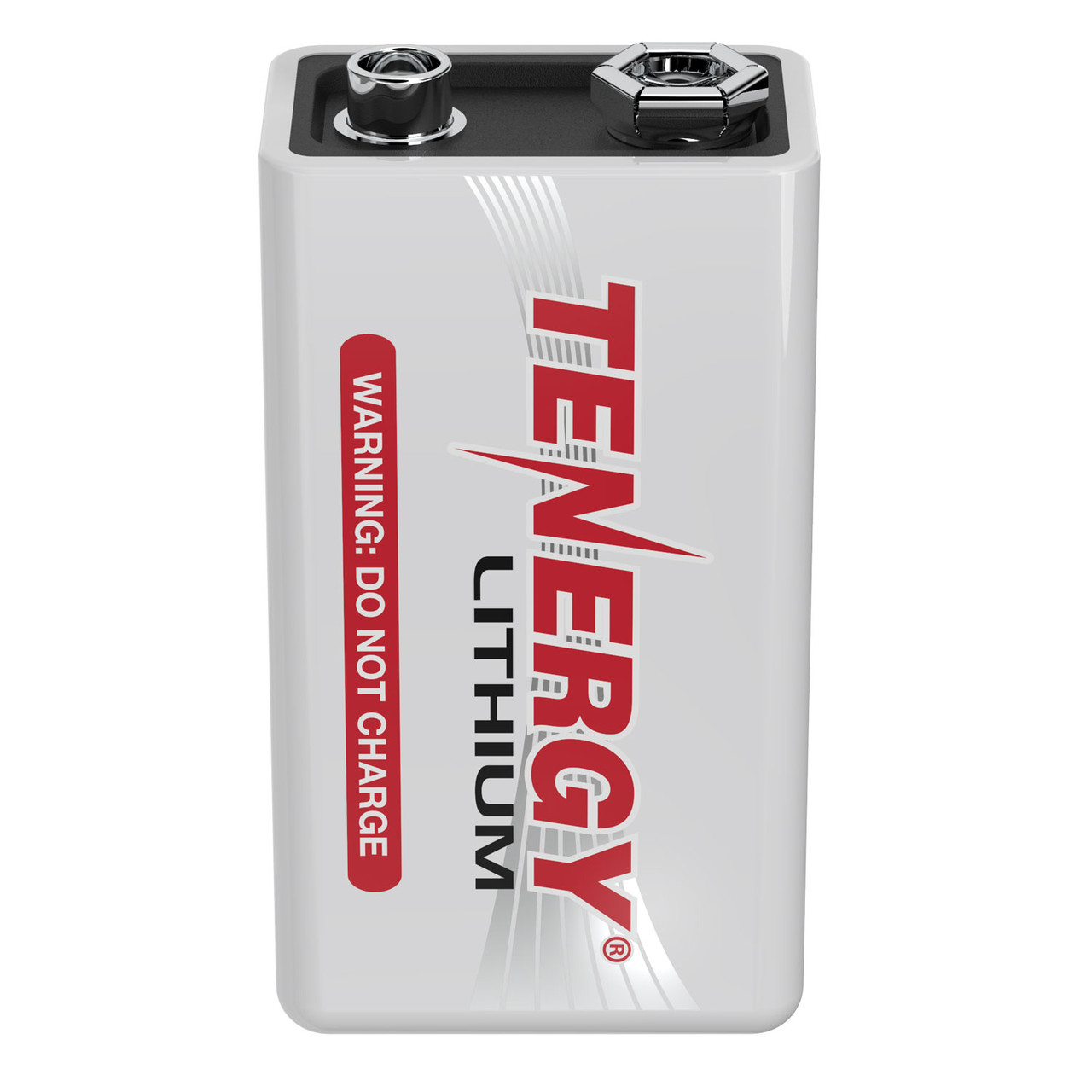 Tenergy 9V Lithium Battery, 1200mah with 10 years shelf life - [Non-Rechargeable]