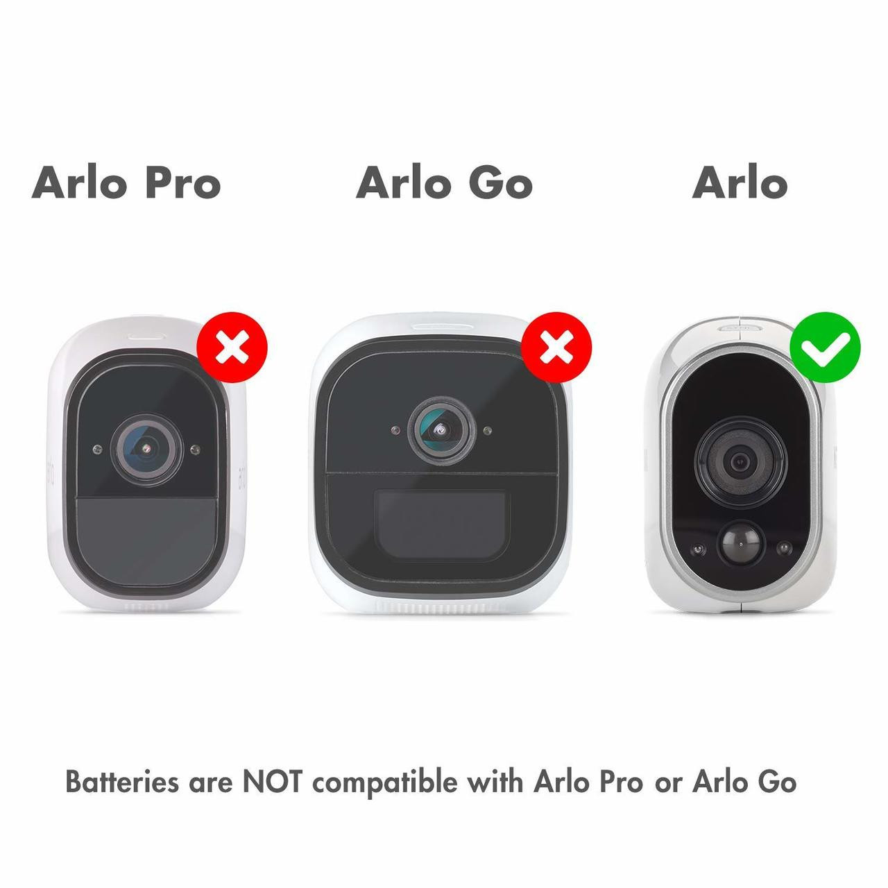 Rechargeable Batteries (16-Pack) Arlo Certified Li-ion 3.7V 650mAh for Arlo Smart Security Camera, UL & UN Certified