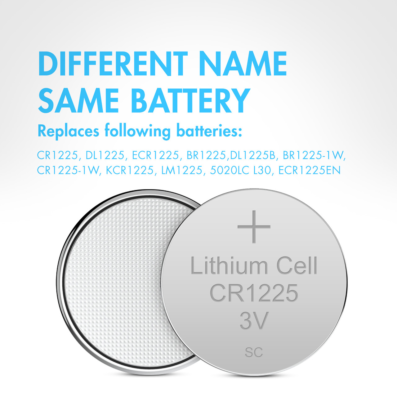 20pcs CR1225 3V Alkaline Button Cells