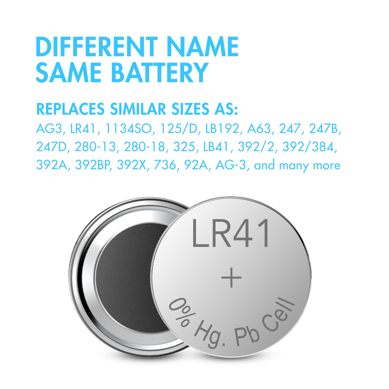40pcs LR41 / AG3 1.5V Alkaline Button Cells