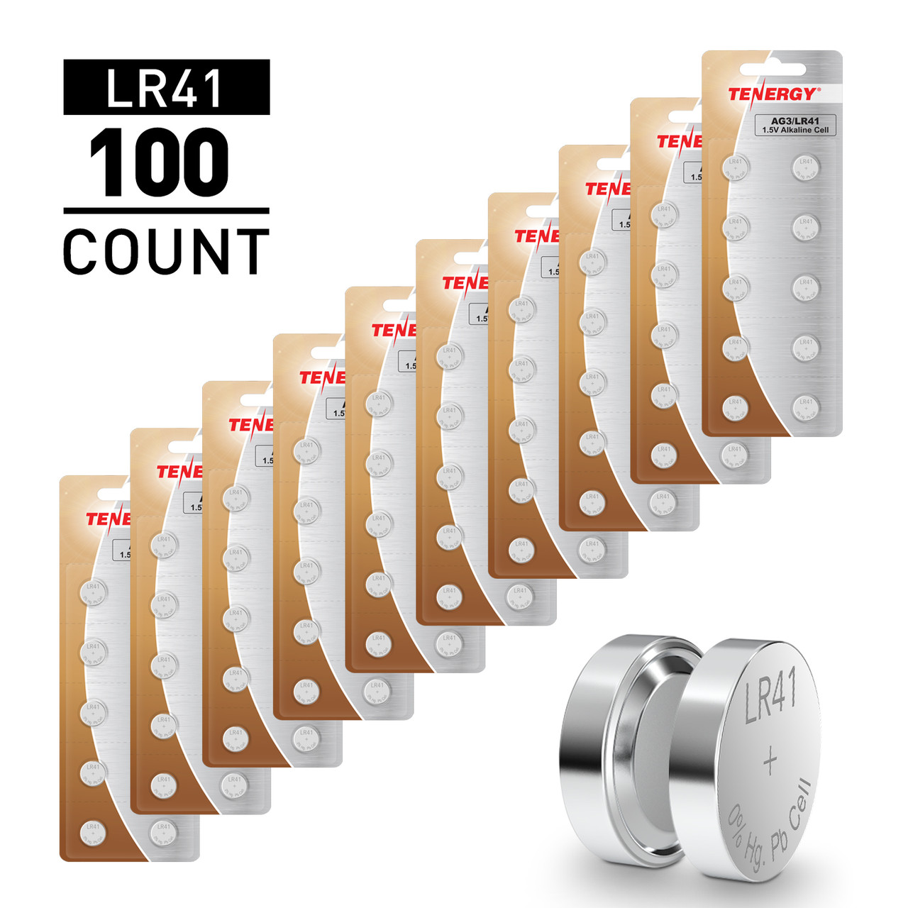 100pcs LR41 / AG3 1.5V Alkaline Button Cells