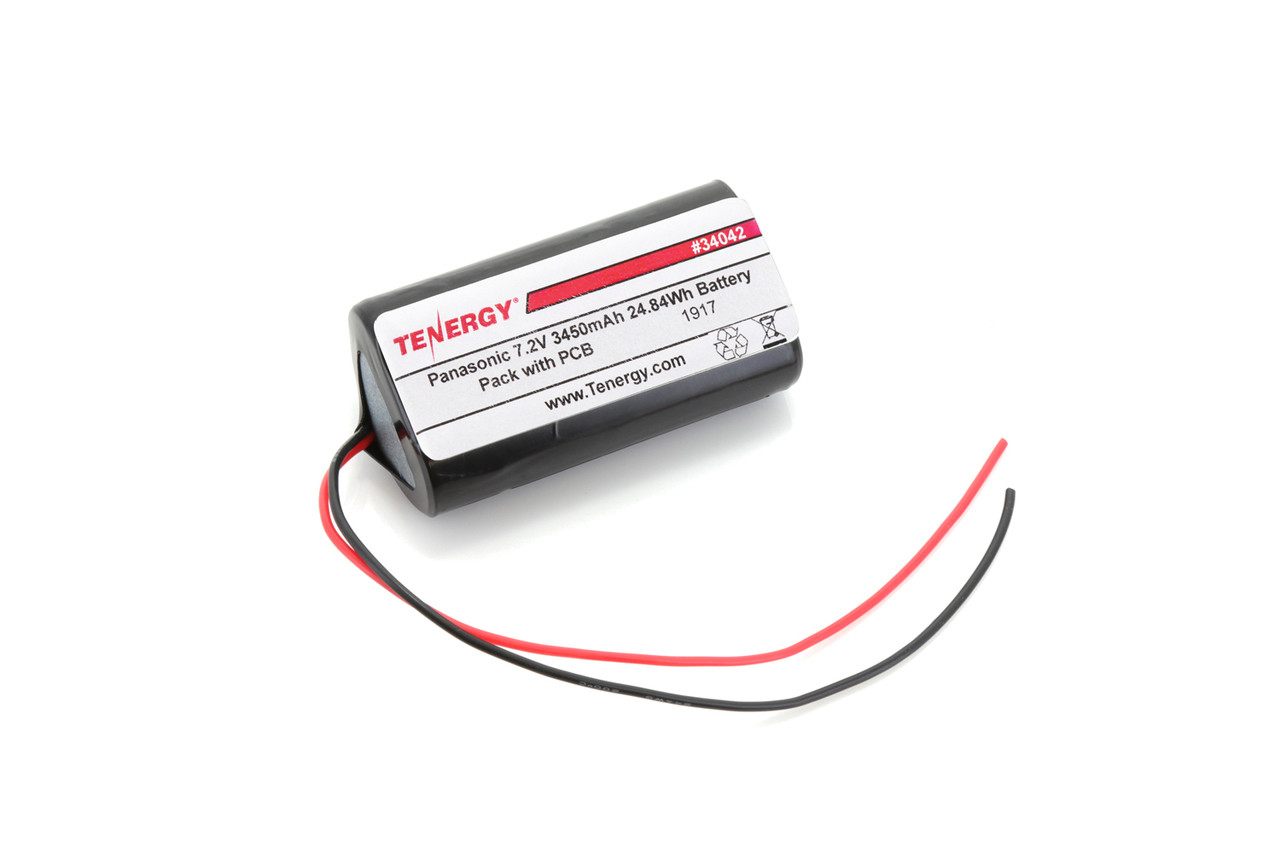 AT: Tenergy Li-ion 18650 7.2V 3500mAh Rechargeable Battery Pack w/ PCB (2S1P, 24.84Wh, 5A Rate)