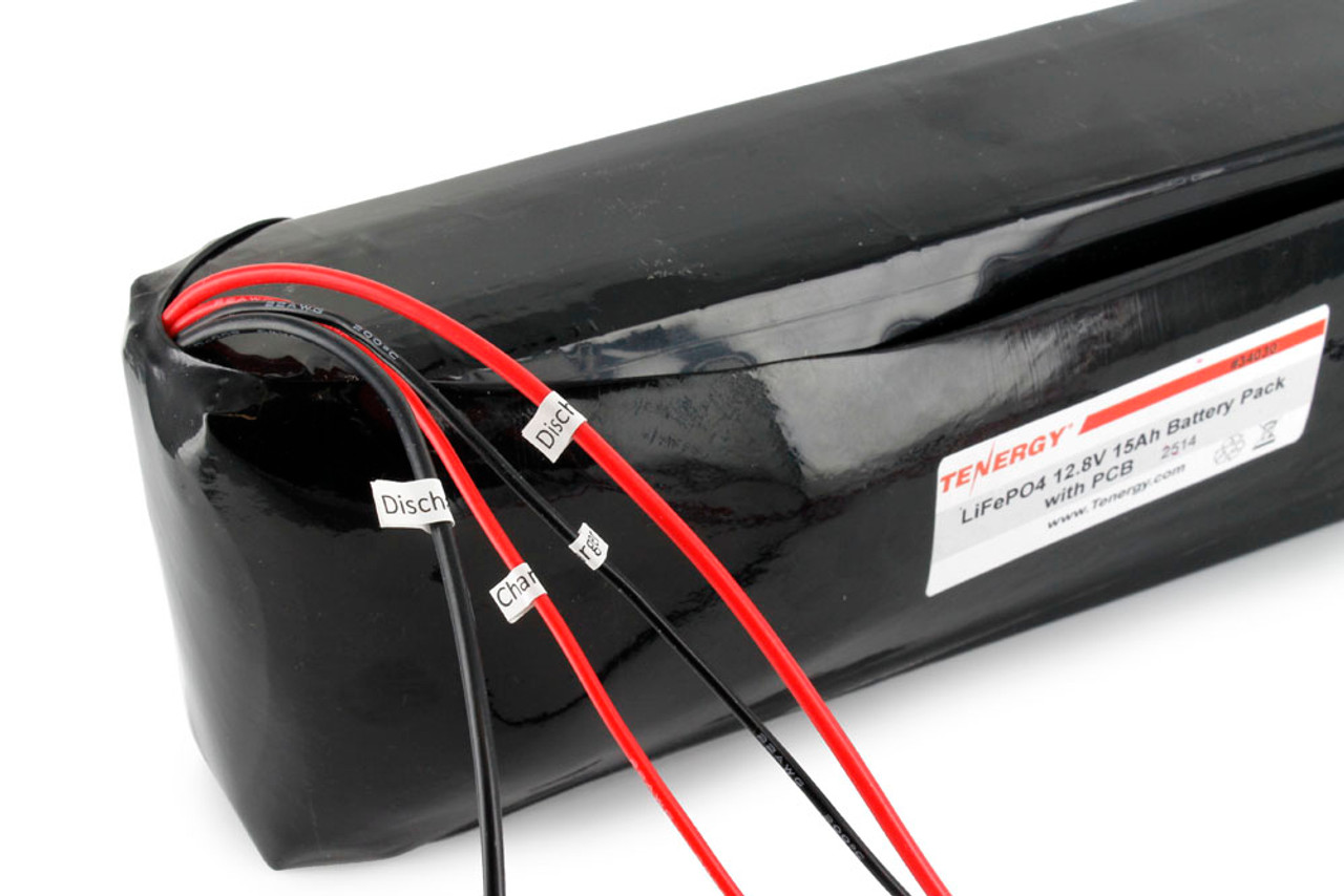 AT: Tenergy 12.8V 15Ah LiFePO4 Battery Pack with PCB (DGR-A)