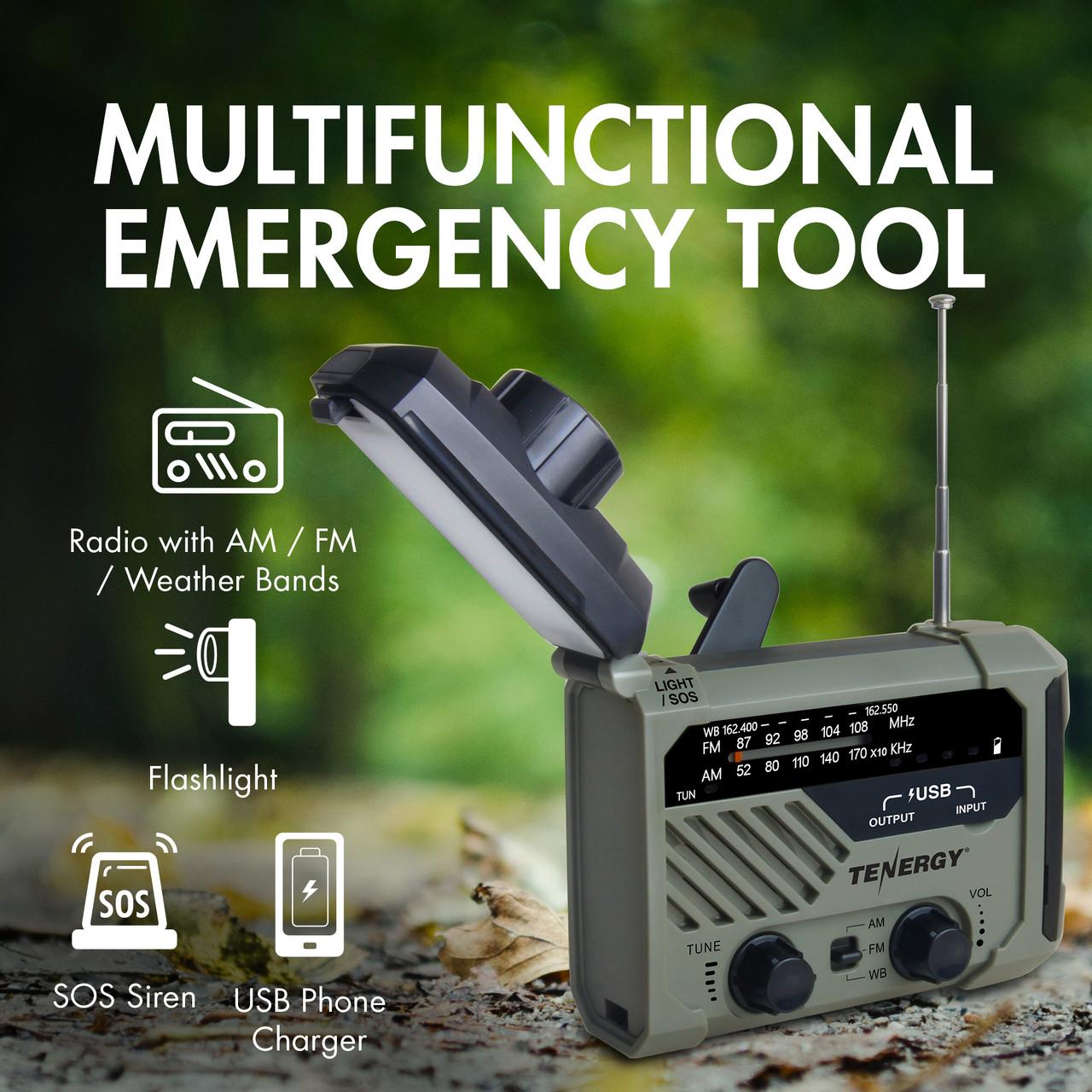 Tenergy Multifunctional Hand Crank Emergency Radio