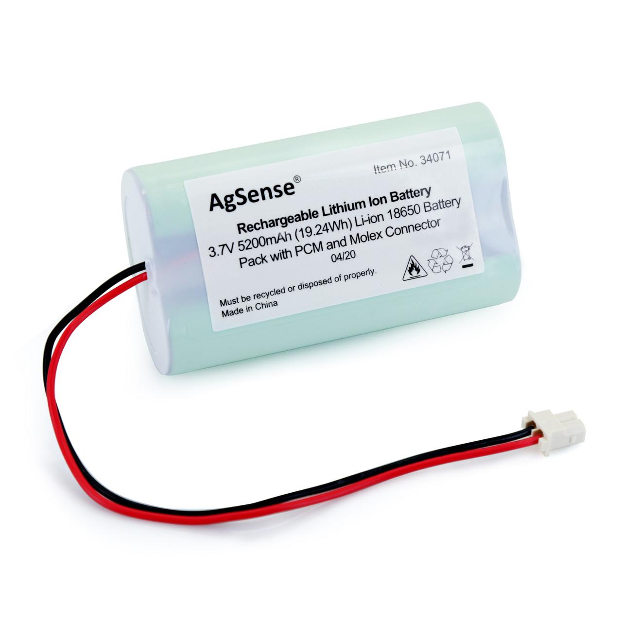 Li-Ion 3.7V 5200mAh Rechargeable Battery w/ PCM (1S2P, 19.24Wh, 6A Rate, w/ Molex Connector)