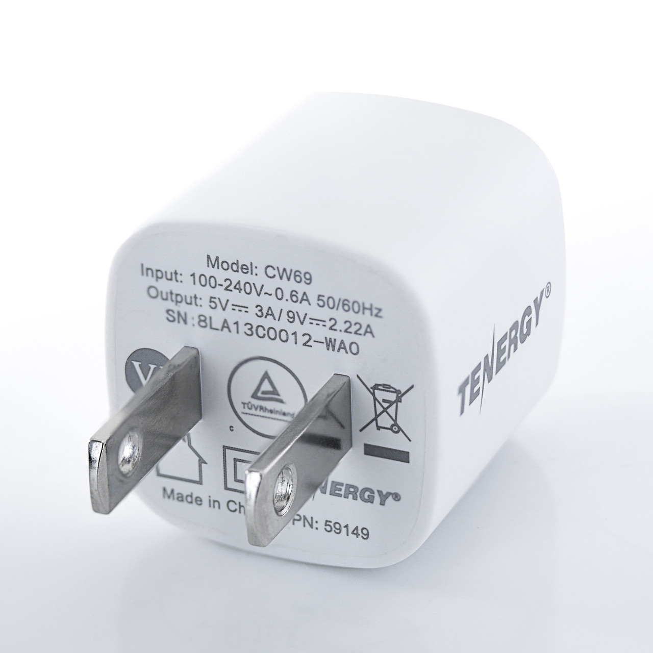 Tenergy USB-C Charger with PD 20W