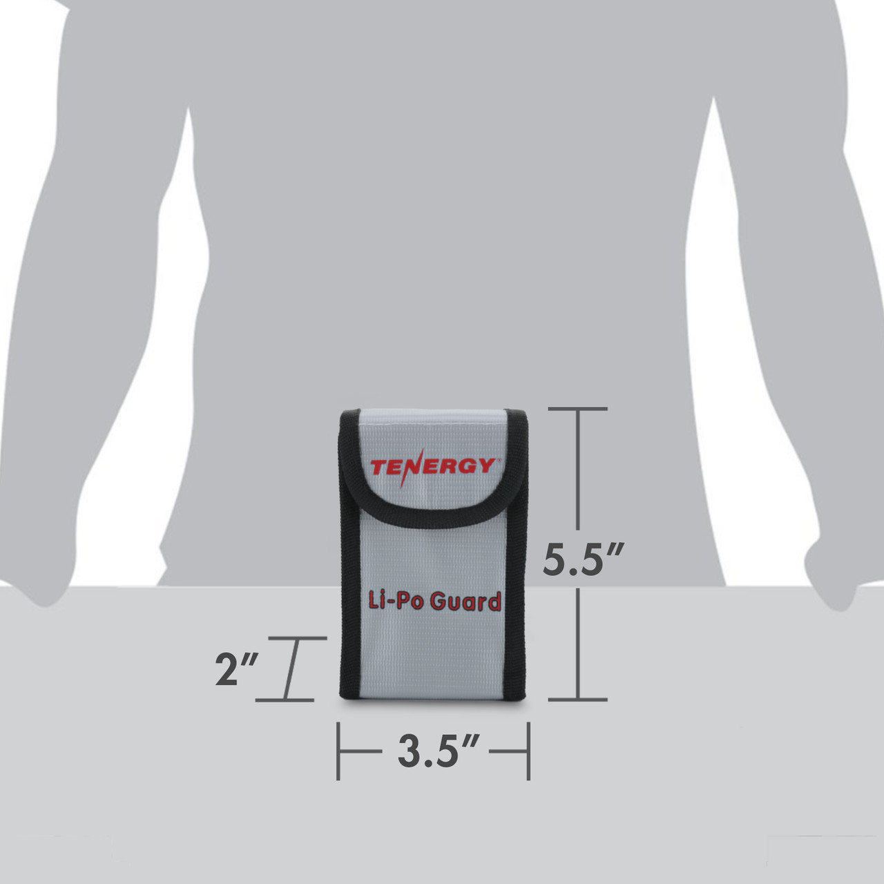 Tenergy Pack of 2, Fireproof and explosion-proof Tenergy lipo safe bag, size: 5.5x3.5x2 inches (140x90x55mm)
