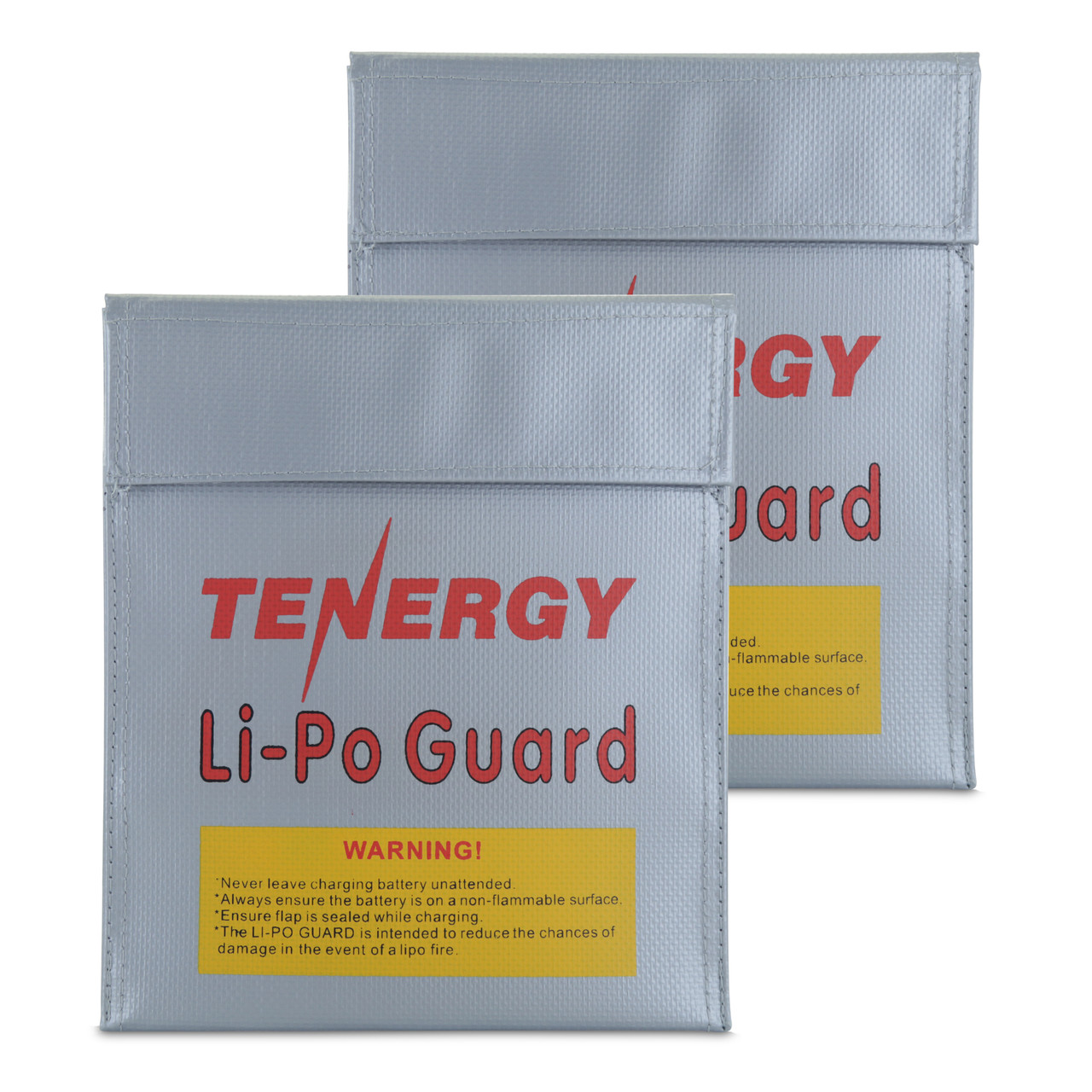 Tenergy 2 Pack Fireproof and explosion-proof lipo safe bags, 7x9inches each