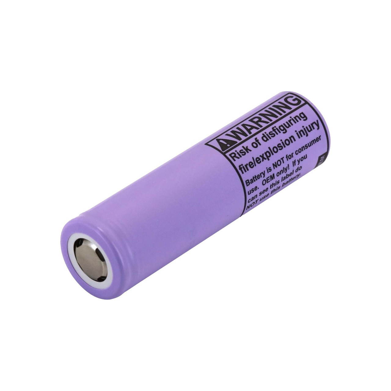 LG INR18650 F1L 3.63V 3350mAh Rechargeable Flat Top Battery, 4.875A Max continuous discharge, W/O PCB