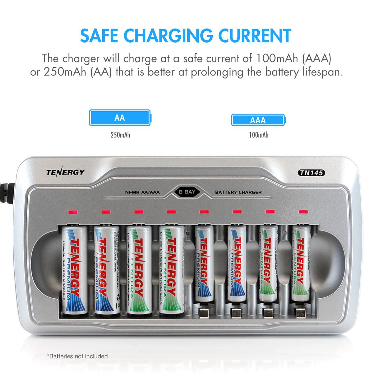 Tenergy TN145 8-Bay AA/AAA NiMH Battery Charger
