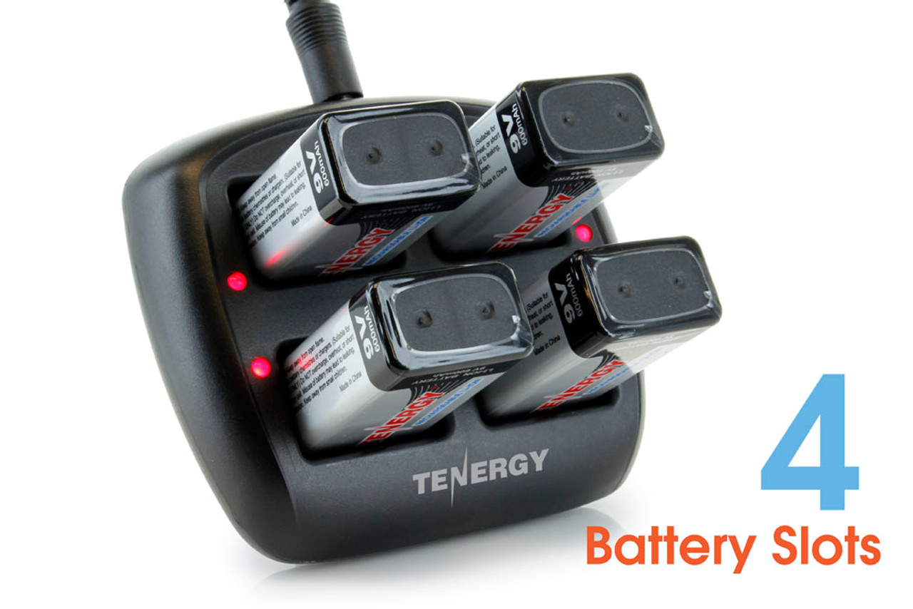 Tenergy TN294 4-Bay 9V Li-ion Battery Charger