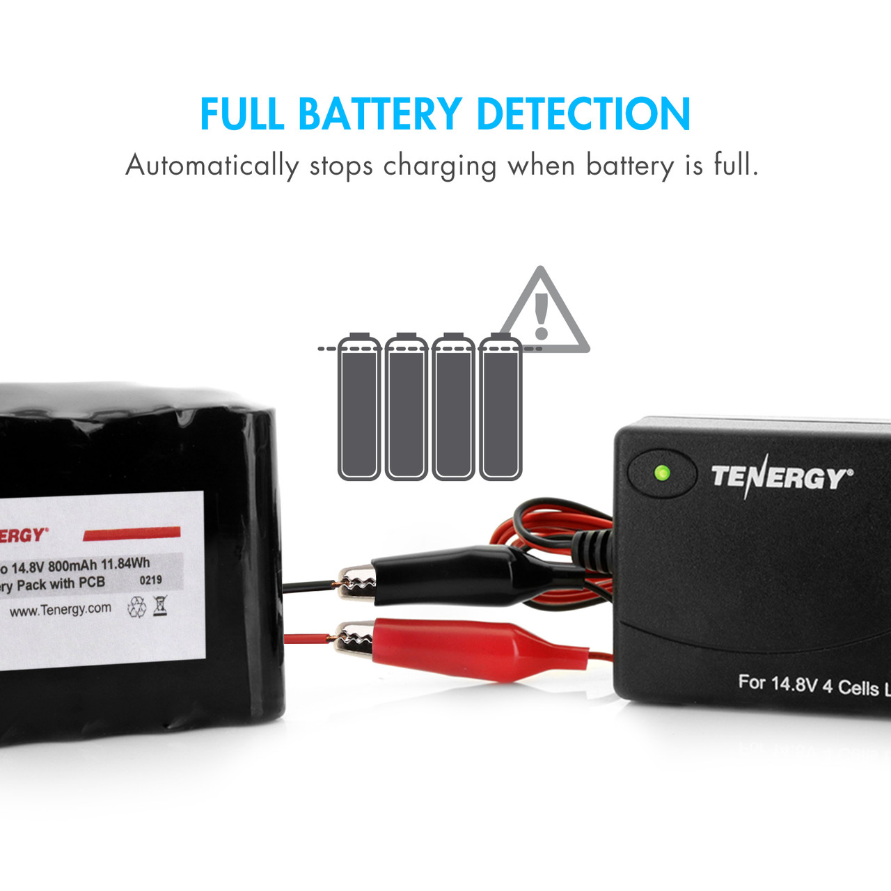 Tenergy TLP3000 1.5A Charger for Li-Ion / Li-polymer battery Pack (14.8V 4 cells) - UL approved