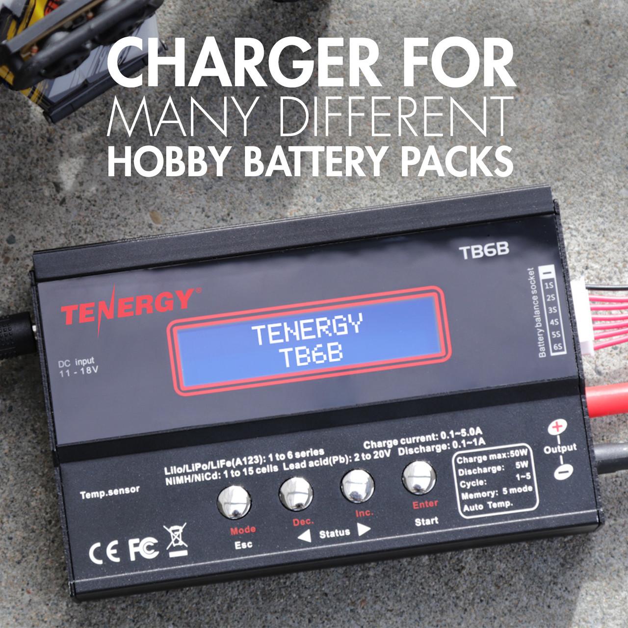Tenergy TB6B Multifunctional Balance Charger for NiMH/NiCd/LiPo/Li-Fe Battery Packs + Power Supply