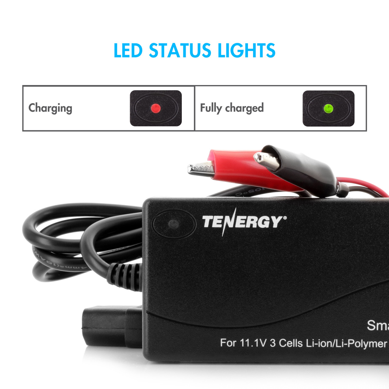 Tenergy 11.1V (3S) Li-ion/LiPo Battery Pack Smart Charger (Output: 12.6V, 2A)
