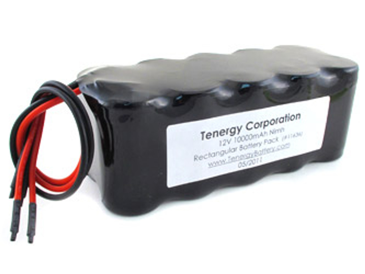 AT: Tenergy NiMH 12V 10000mAh Rechargeable Battery Pack (10S1P, 120.0Wh, 10A Rate, 2 sets of Bare Leads)