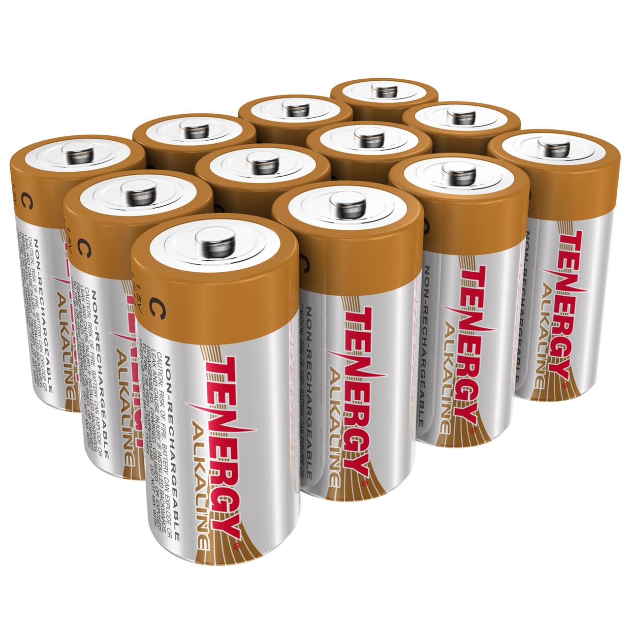 Tenergy C Lr14 Alkaline Batteries 12pk Tenergy