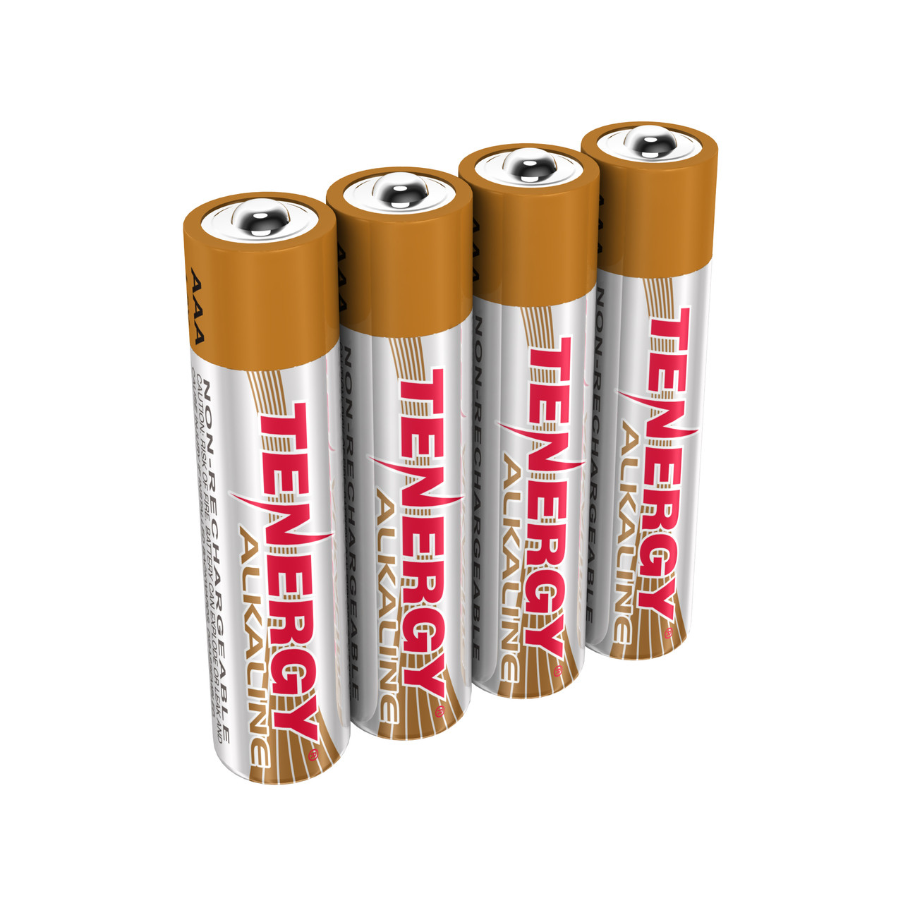 1 Card: 4pcs Tenergy AAA Size Alkaline Batteries