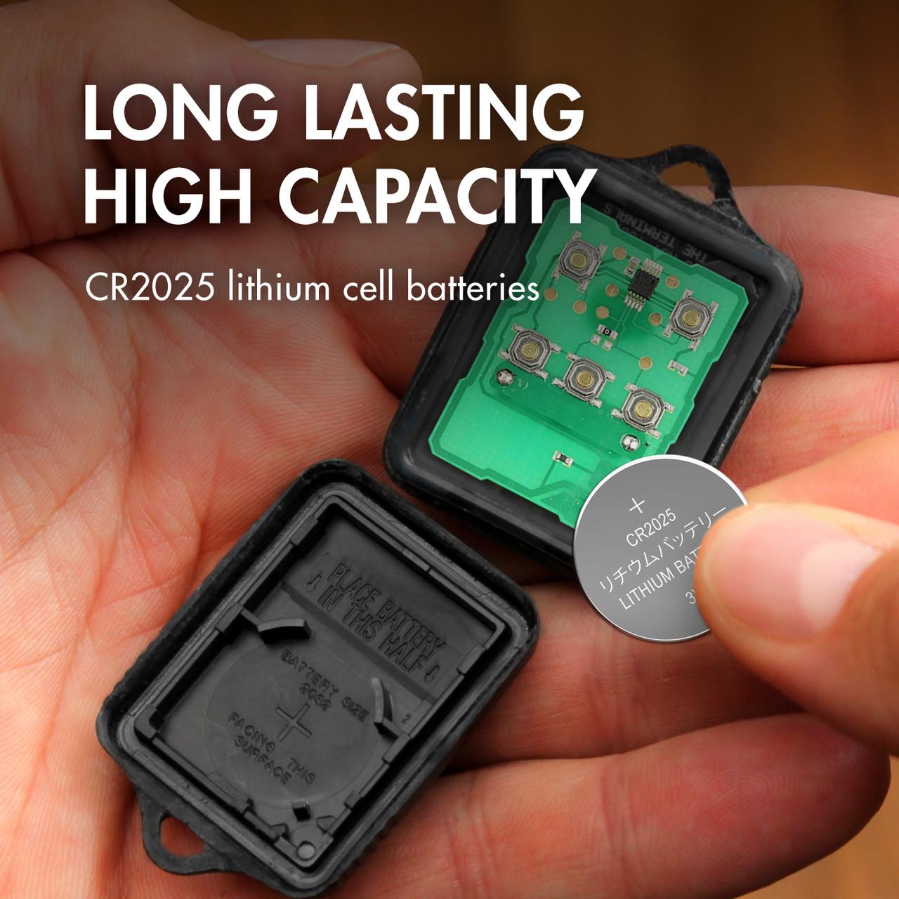 1 Card: 5pcs Tenergy CR2025 Lithium Button Cells