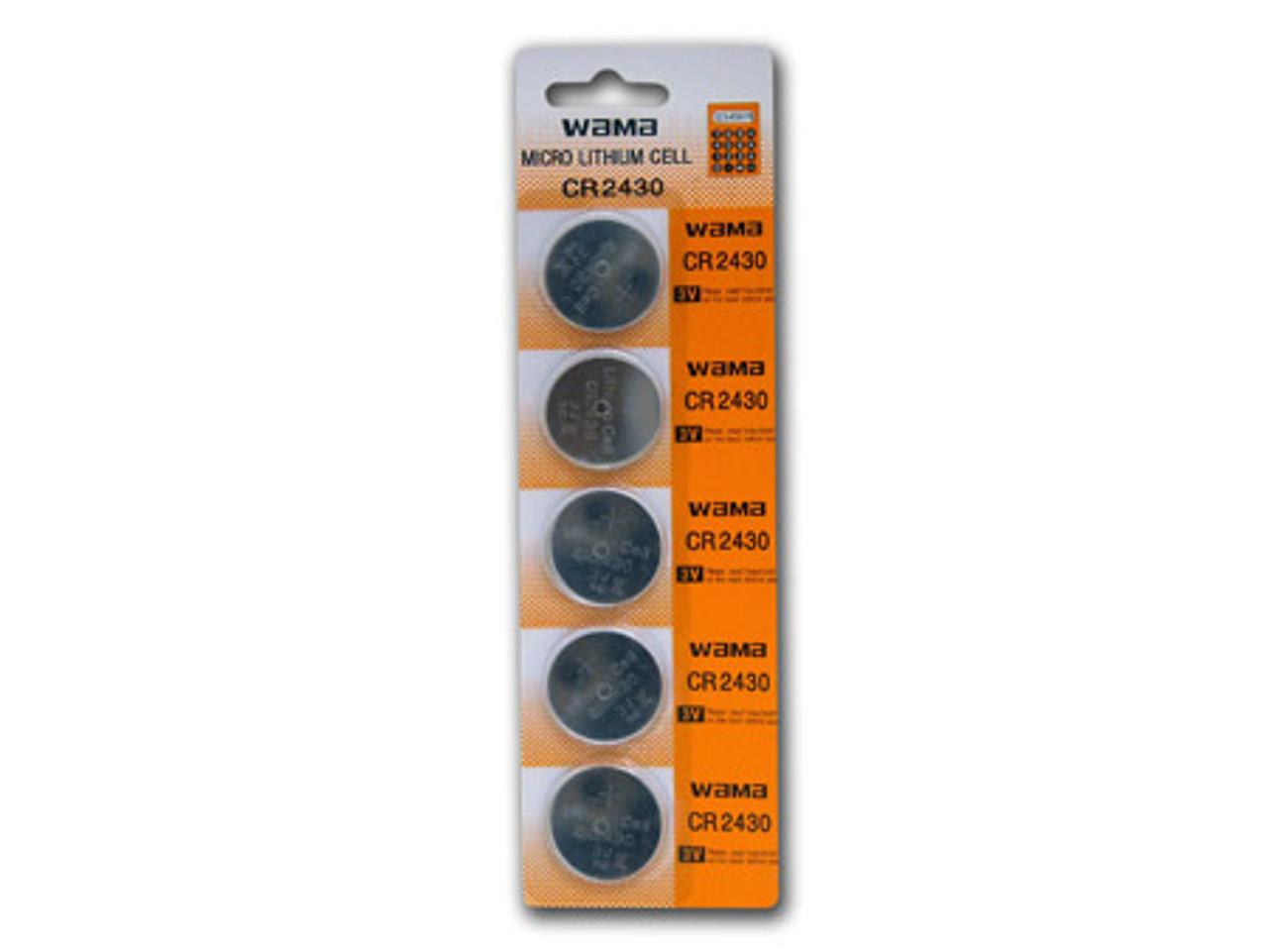 1 Card: 5pcs Wama CR2430 Lithium Button Cells