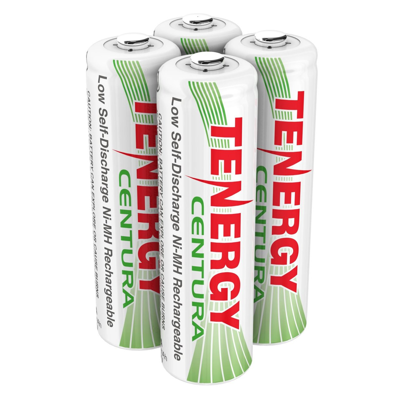 Tenergy Centura NiMH AA 1.2V 2000mAh Rechargeable Batteries, 4-pack (1 x card)