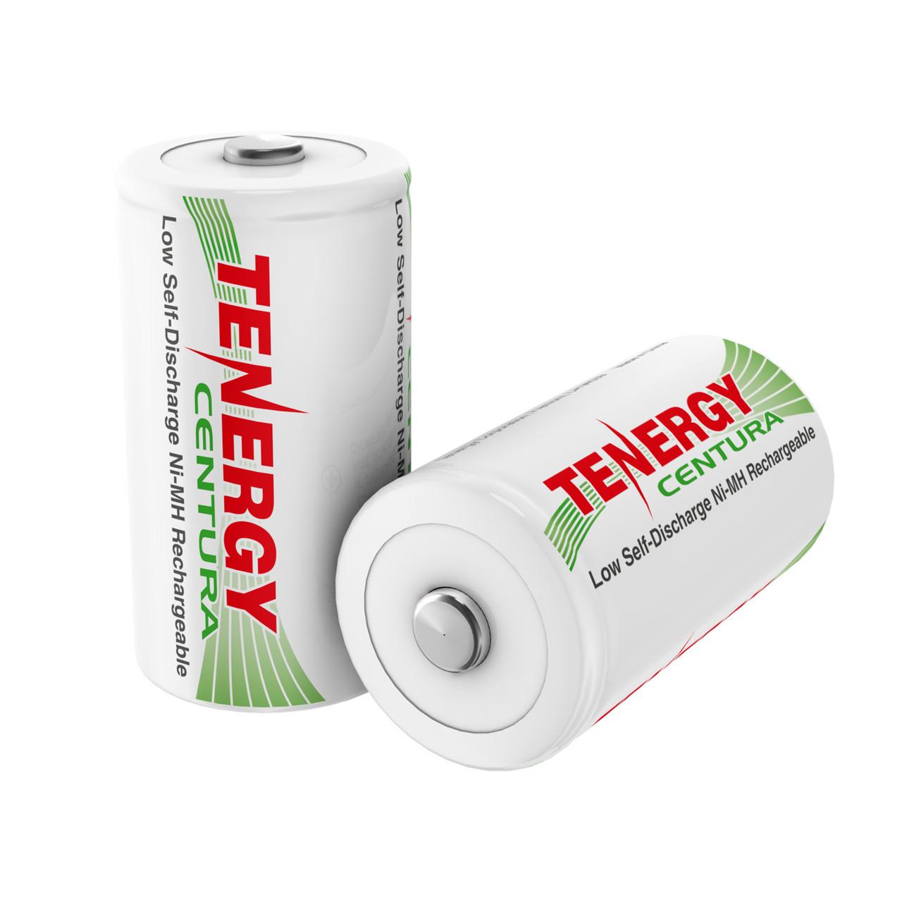 2-pack (Card) Tenergy Centura NiMH D 1.2V 8000mAh Rechargeable Batteries