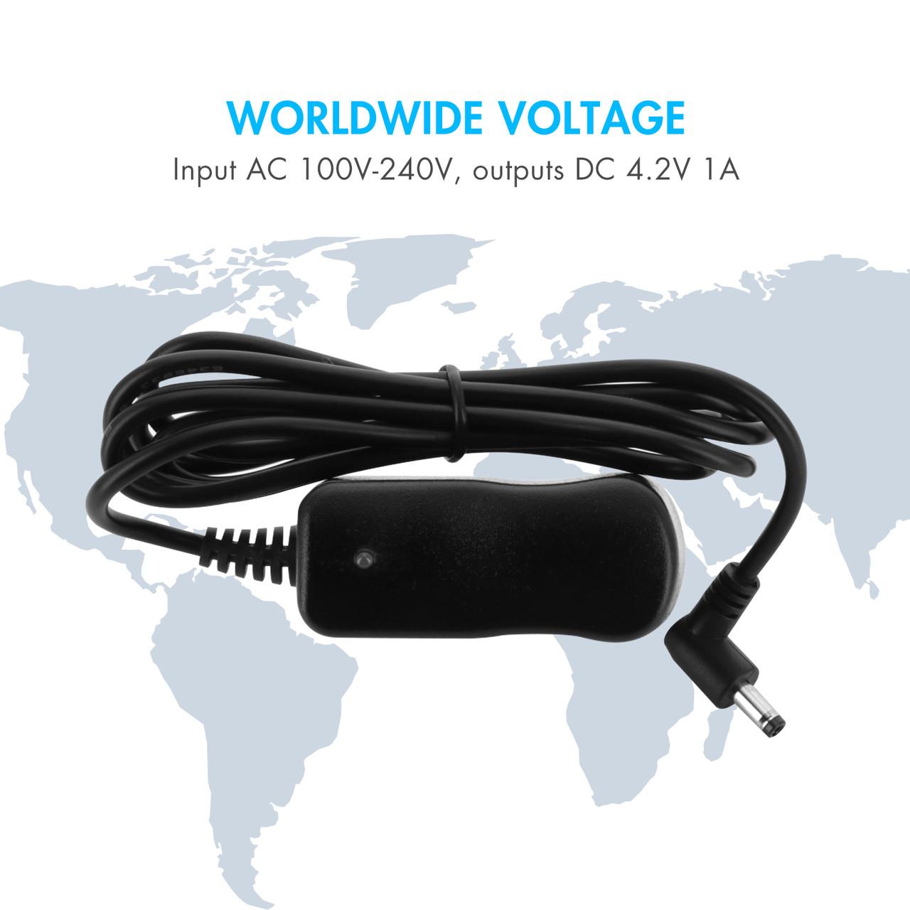 110V-240V AC to 3.7V DC Li-ion Battery Charger w/ DC Connector