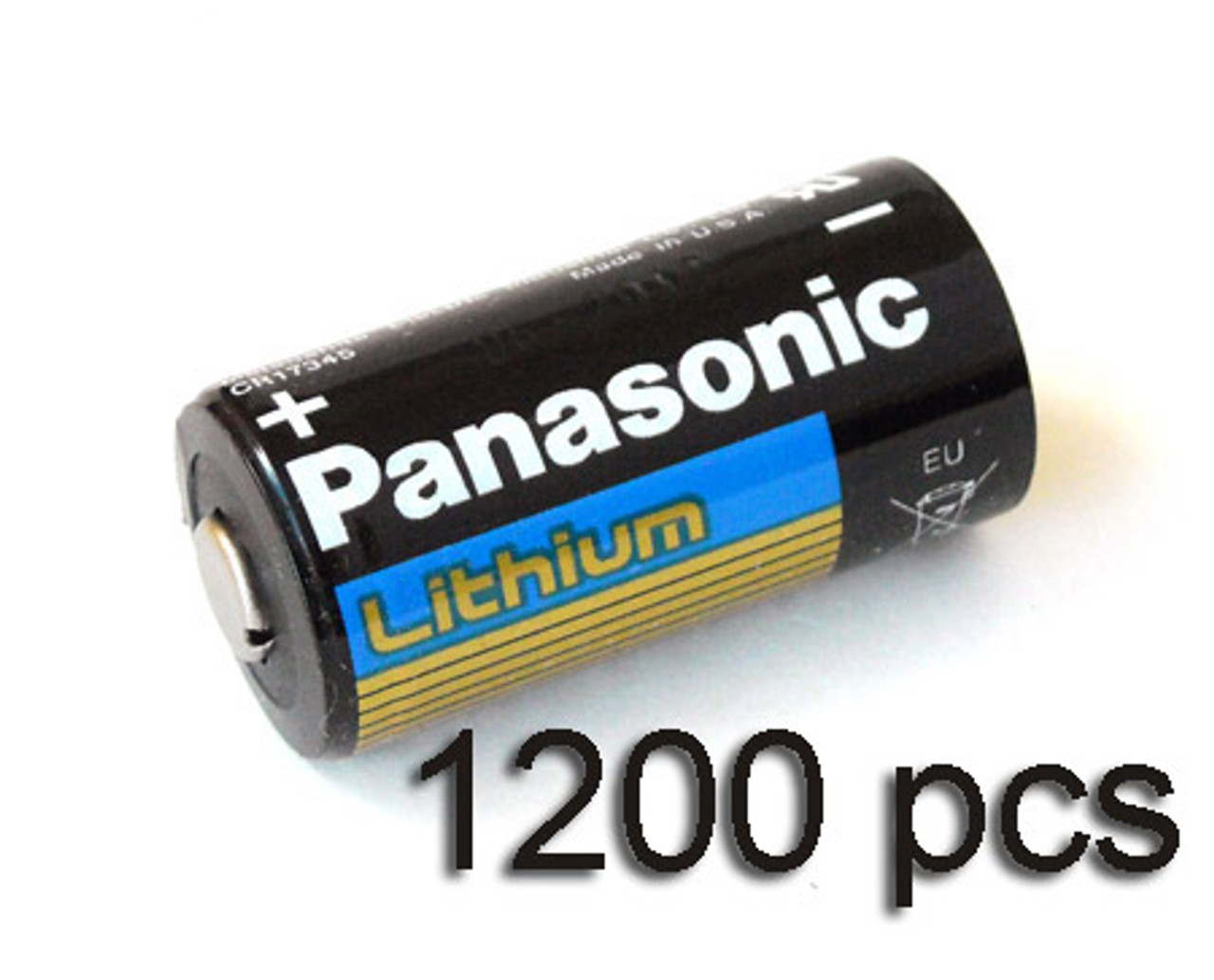 1200 pcs of Panasonic Lithium CR123A 3V Batteries
