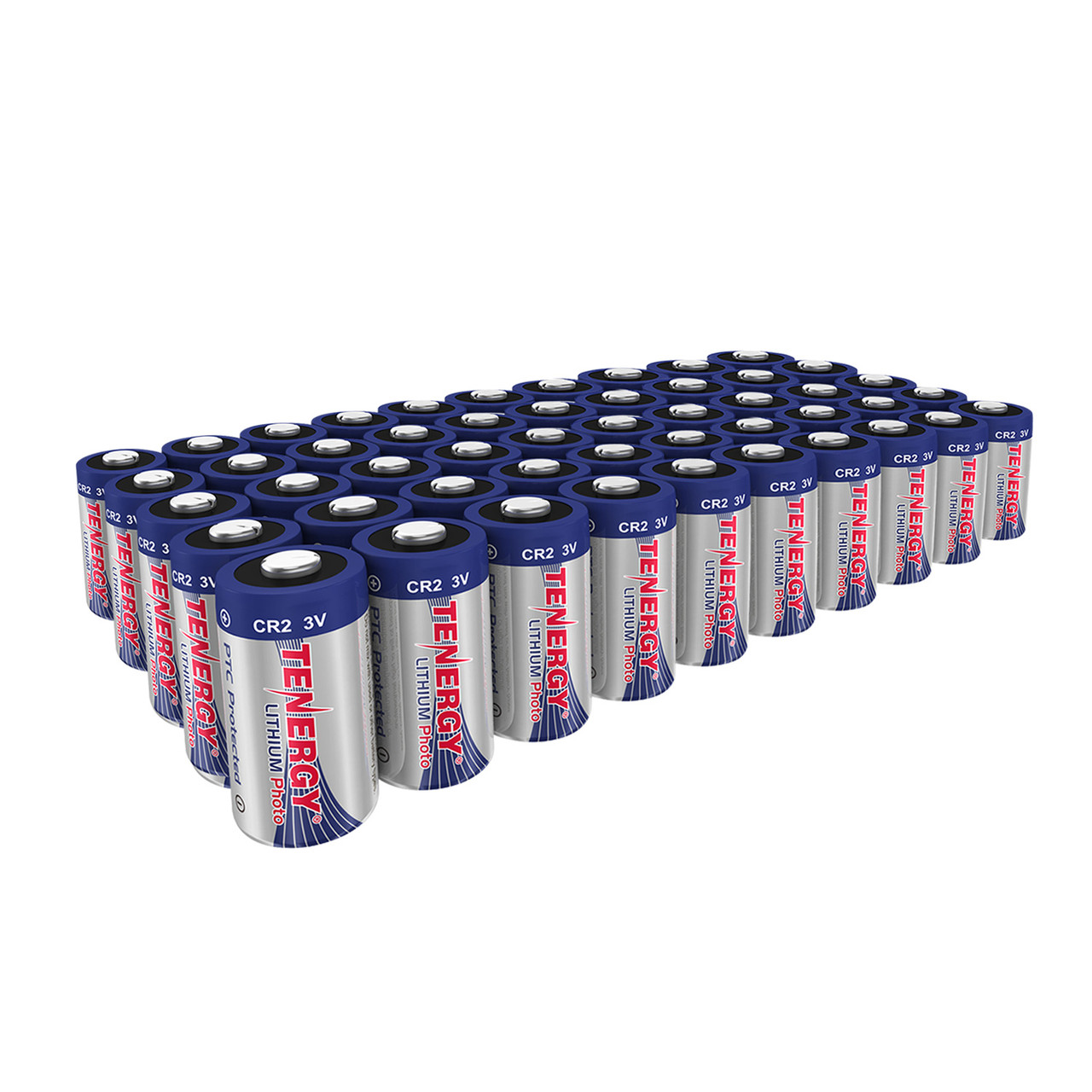50 Pcs Tenergy Propel CR2 3V Lithium Battery with PTC Protection