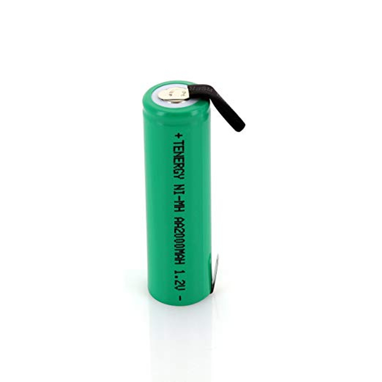 COMBO: 12pcs NiMH AA 2000mAh Flat Top Rechargeable Battery (w/Tabs)