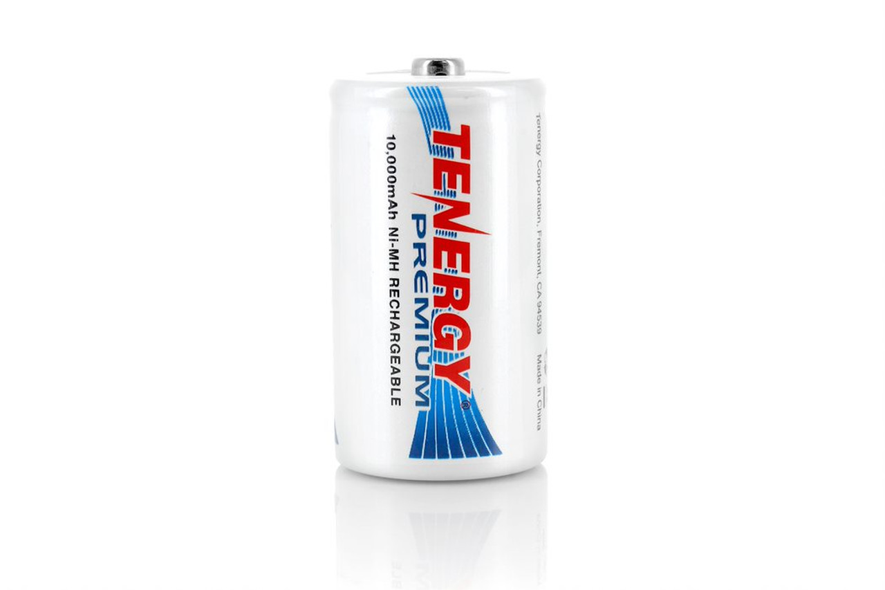 Combo: 16pcs Tenergy Premium D 10,000mAh NiMH Rechargeable Batteries