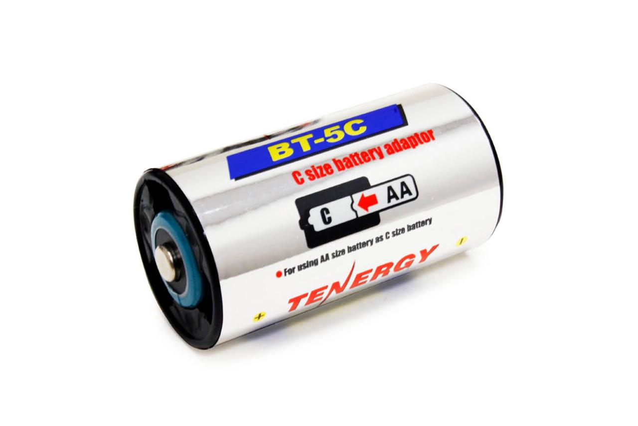 Combo: 24 pcs Tenergy AA 2500mAh NiMH Rechargeable Batteries + 4C & 4D Battery Adaptors