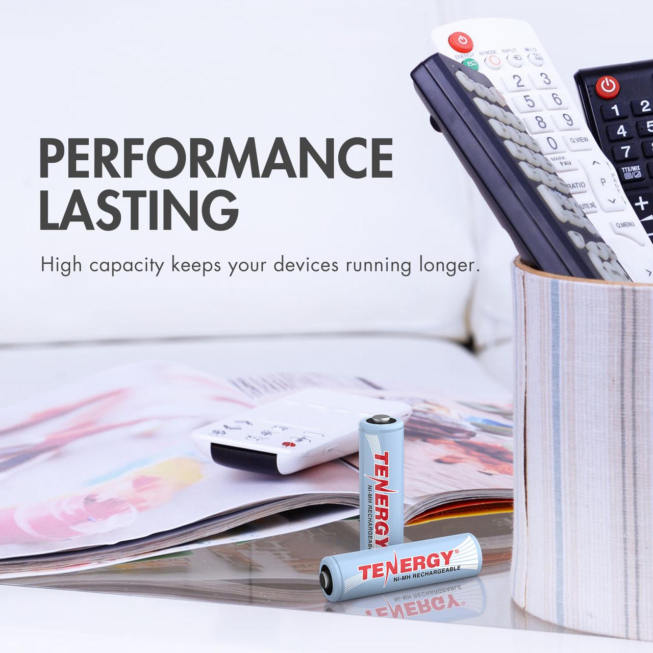 Combo: Tenergy NiMH  Rechargeable Batteries (8AA/8AAA/4C/4D)
