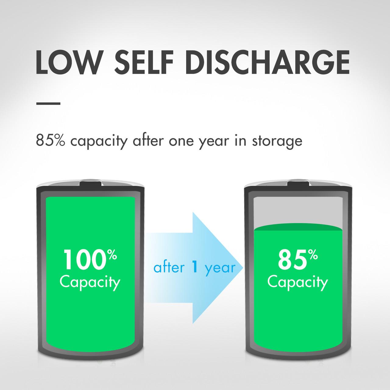 8-pack (4 x Card) Tenergy Centura NiMH D 1.2V 8000mAh Rechargeable Batteries