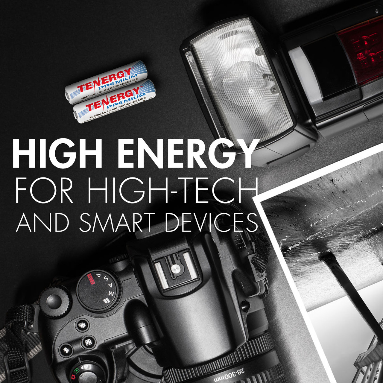 Combo: 60 pcs Tenergy Premium AAA 1000mAh NiMH Rechargeable Batteries
