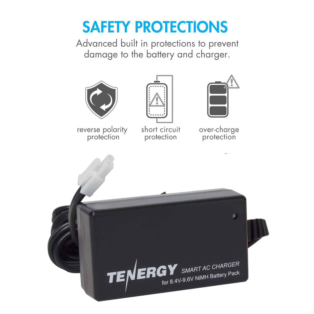 Combo: Tenergy Airsoft NiMH 9.6V 2000mAh Nunchuck  Battery Pack w/ Mini Tamiya Connector + Charger (#01026)