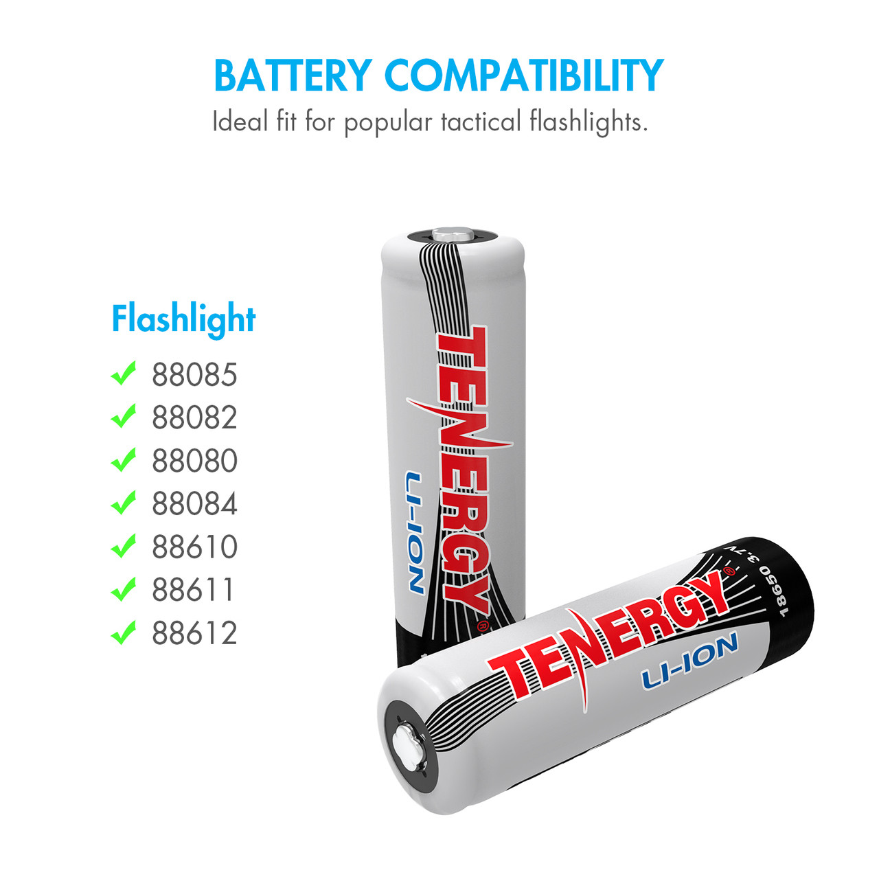 Kit: Tenergy 2CH 18650/14500 Li-ion Battery Charger + 2 PCS Li-ion 18650 3.7V 2600mAh Batteries (Button Top) w/ PCB