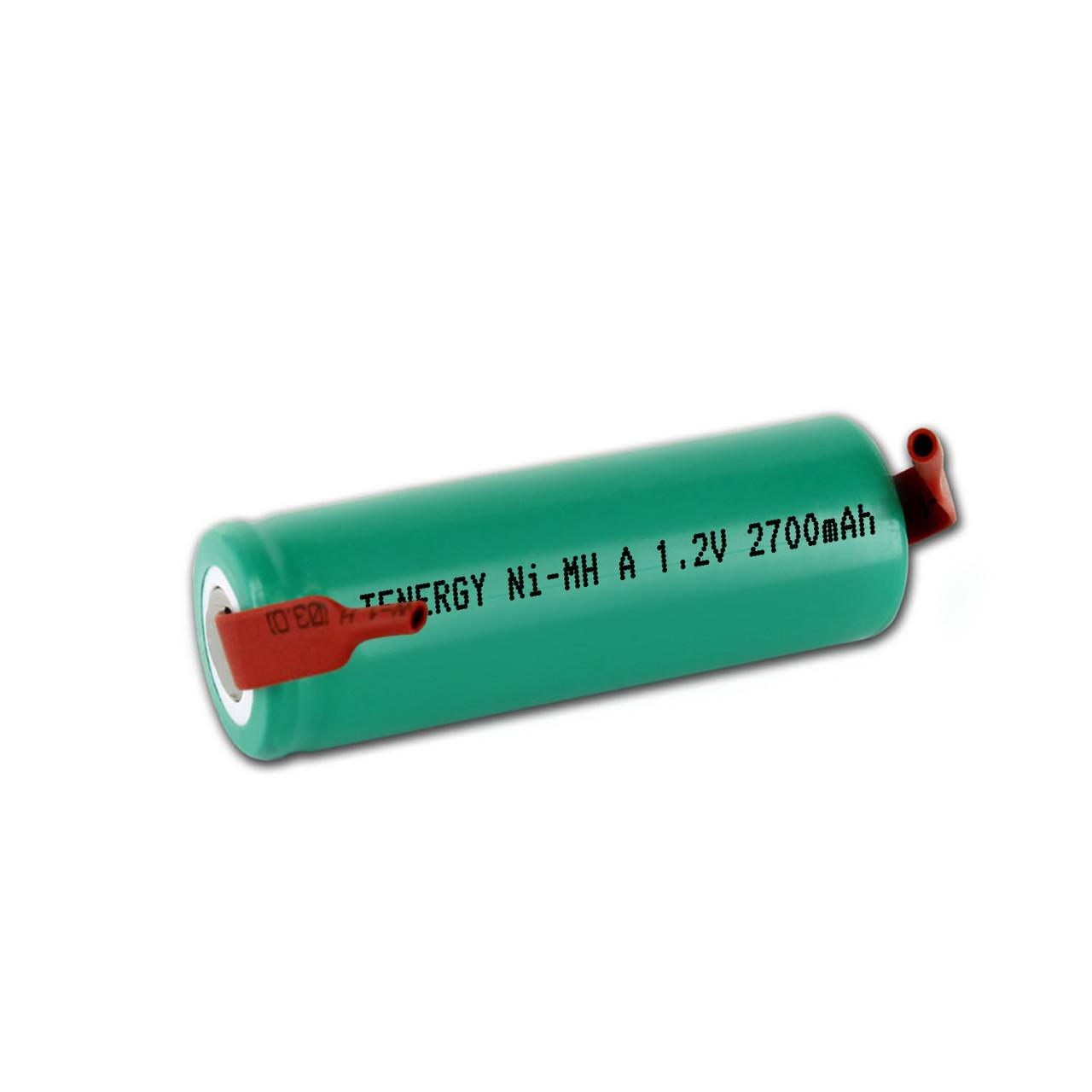 Tenergy A Size NiMH 2700mAh Rechargeable Batteries