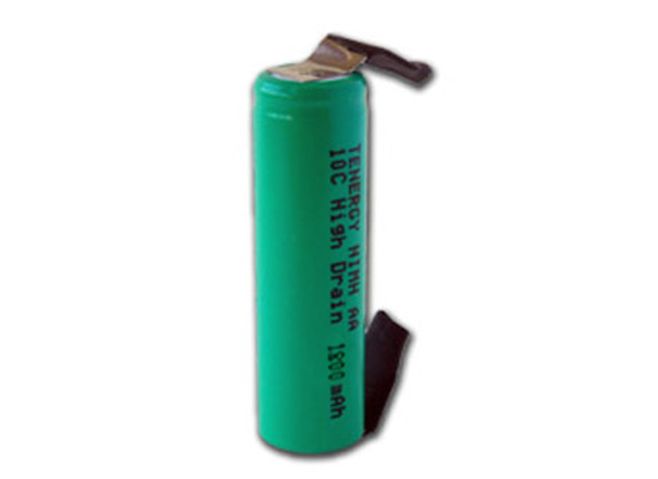 Tenergy AA  1800mAh 10C NiMH Flat Top Rechargeable Battery