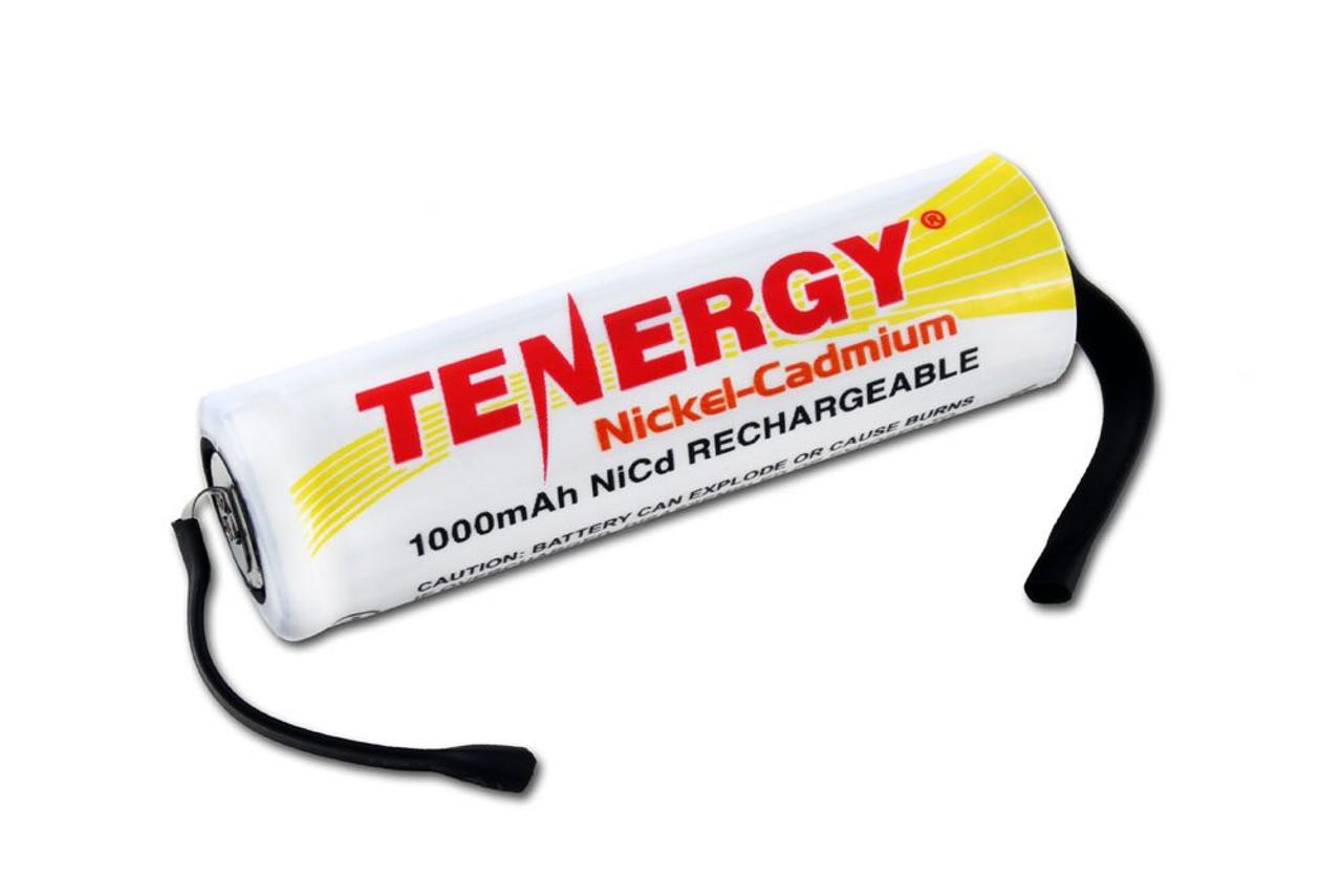 Tenergy AA 1000mAh NiCd Flat Top Rechargeable Battery