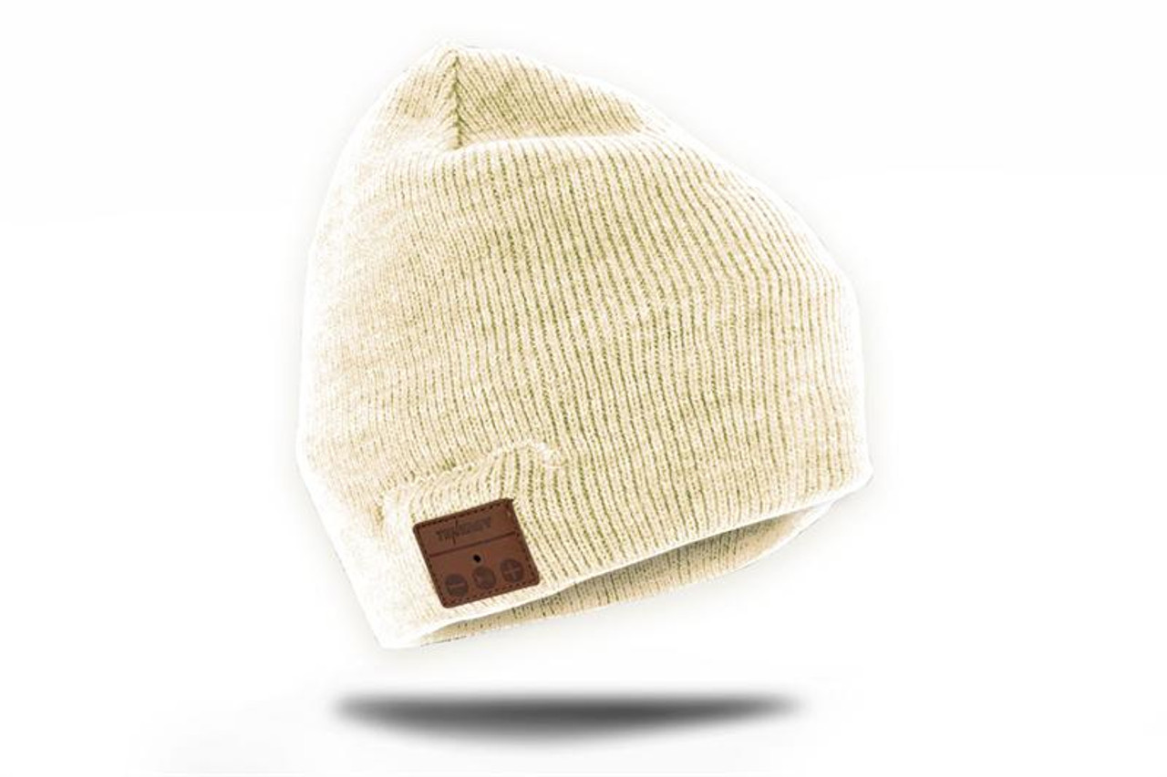 Tenergy Bluetooth Beanie w/ Basic Knit (Color: Cream)